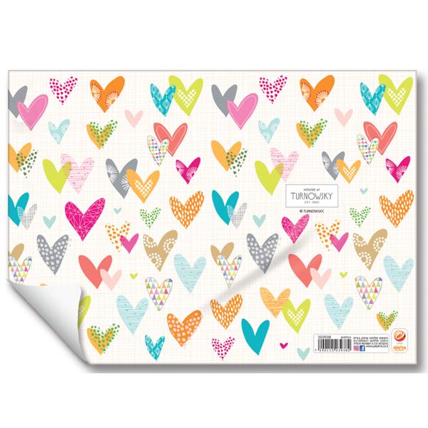 תמונה של עטיפות למחברת עם עטיפות ניילון לבבות צבעוני